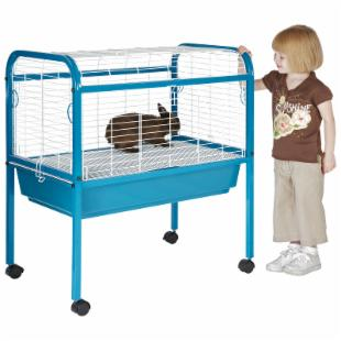 Prevue Pet Jumbo Small Pet Cage on Stand - White/Blue