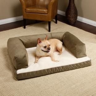 Beasleys Couch Dog Bed - Poly-Suede Sage