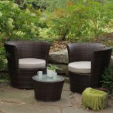  Sanibel All-Weather Wicker Balcony Chat Set