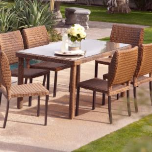 Maya All Weather Wicker Patio Dining Table