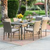  Maya All Weather Wicker Patio Dining Set - Seats 6