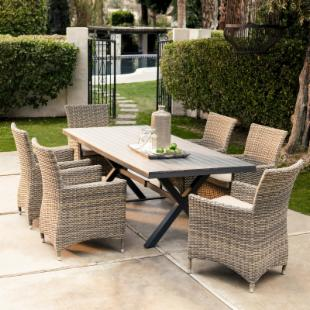 Bella All Weather Wicker Patio Dining Set - Seats 6