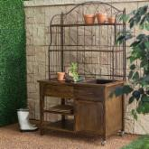  Courtyard Rustic Potting Bench