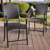  Belmar Resin Wicker Pub Height Dining Chair - Set of 6