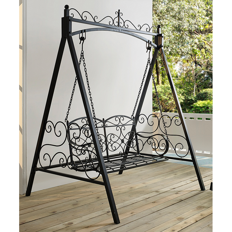 Coral Coast Ridgecrest Metal Outdoor Porch Swing And Stand