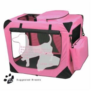 Pet Gear Portable Soft Crate-26 inches-Pink