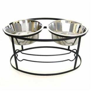 Raised Double Bowl Bone Diner