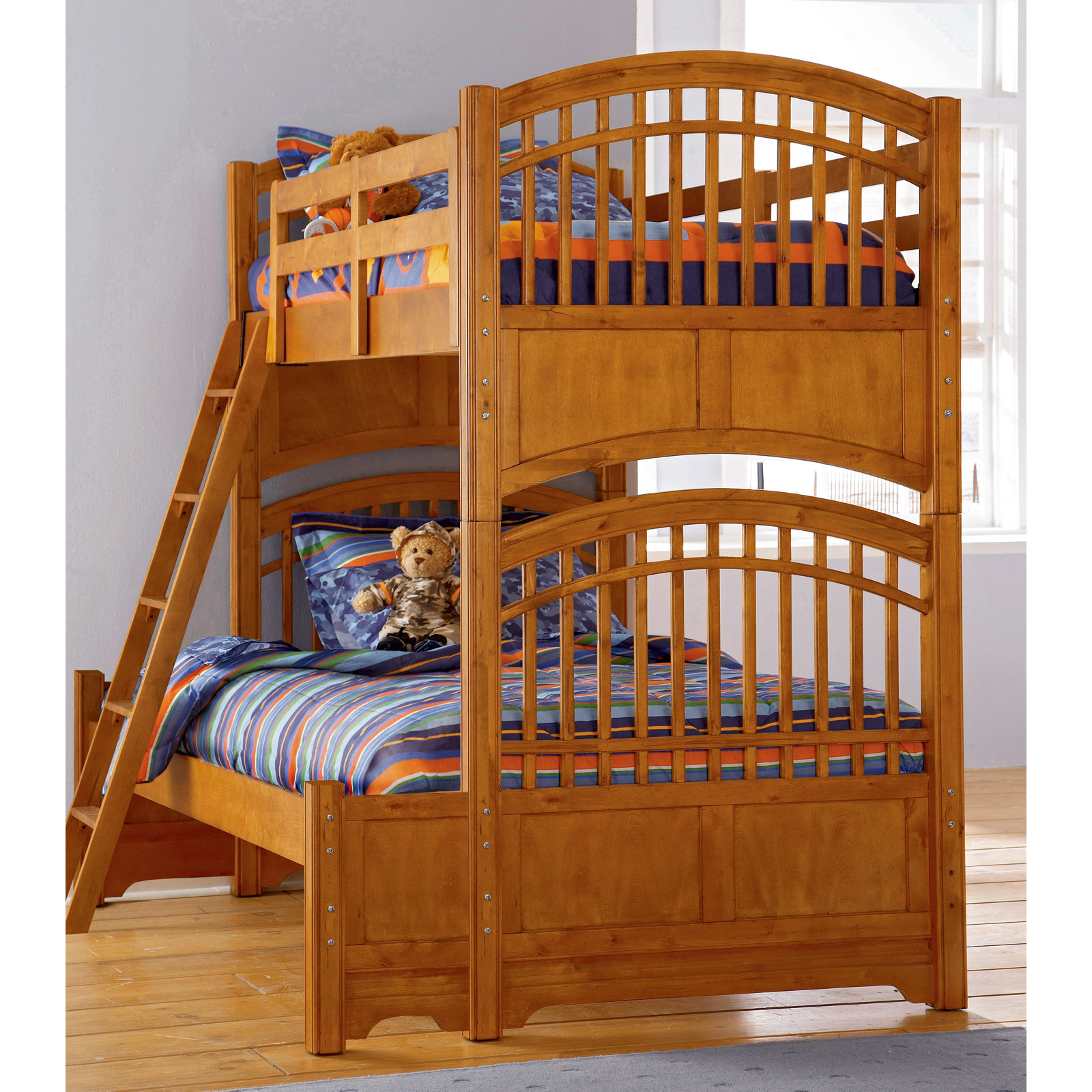 Build-A-Bear Bearrific Twin over Full Bunk Bed - Kids Trundle Beds at ...