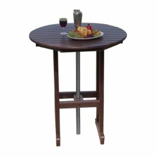 POLYWOOD&#174; Recycled Plastic Round Bar Table
