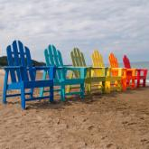 POLYWOOD® Recycled Plastic Long Island Adirondack Dining Chair
