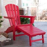 Exclusive! POLYWOOD® Recycled Plastic Big Daddy Adirondack Chair with Pull-out Ottoman