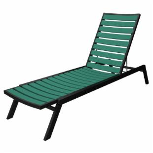 POLYWOOD&#174; Euro Recycled Plastic Chaise Lounge