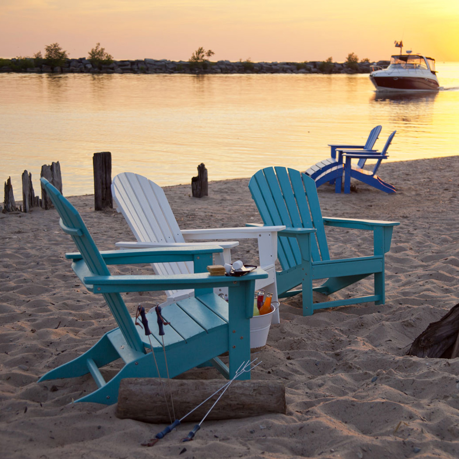 POLYWOOD® South Beach Adirondack Chair - Recycled Plastic ...