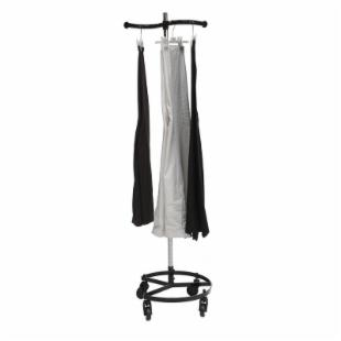 Single Rail Personal Valet Rolling Rack - Black