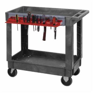 Quantum  34.25 x 17.5 in. Plastic Mobile Cart