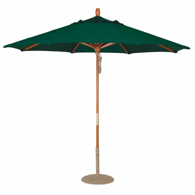 Treasure Garden 9 ft. Sunbrella Wood Patio Umbrella Sunbrella Cocoa RE165-8