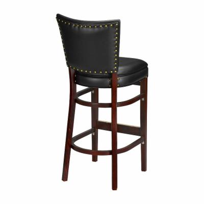 Regal 30-Inch Bradbury Upholstered Bar Stool Black