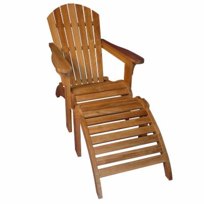 Teak Adirondack Chair and Ottoman