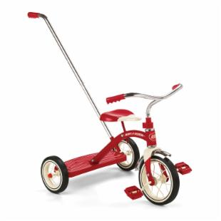 Radio Flyer Classic Tricycle Red with Push Handle - 10 in.
