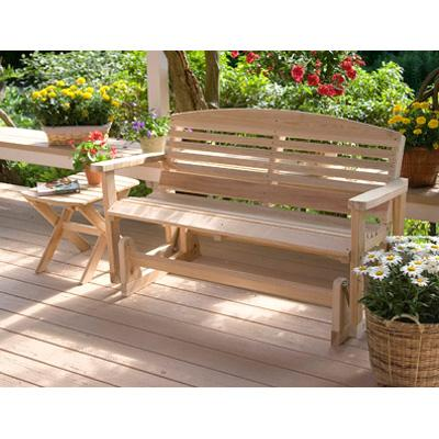 Great American Woodies Cypress 4ft Classic Patio Glider