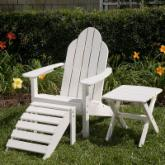 Great American Woodies Lifestyle Recycled Plastic Flat Back Adirondack Chair