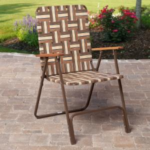 Rio Deluxe Folding Web Lawn Chair