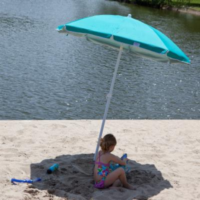Rio Teal Solid Beach Umbrella