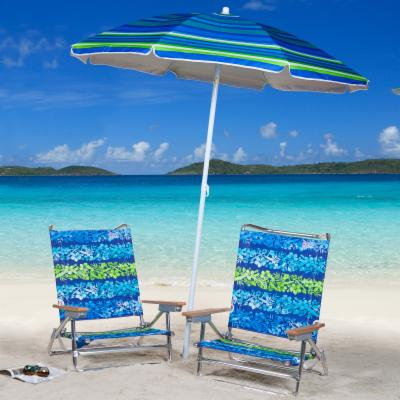Rio Hibiscus Beach Chair and Umbrella Package