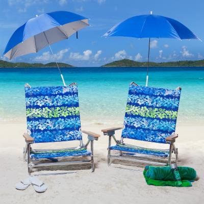 Rio Hibiscus Beach Chair and Clamp-On Umbrella Package