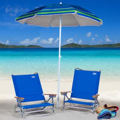 Rio Blue Deluxe Beach Chair and Umbrella Package