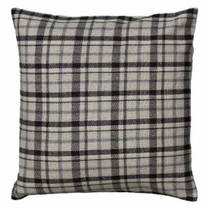 Rizzy Home Woven Tartan Plaid Reversible Decorative Throw Pillow