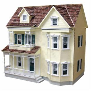 Real Good Toys Front-Opening Country Victorian Dollhouse Kit  - 1 Inch Scale