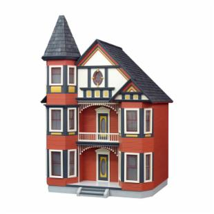 Real Good Toys Painted Lady Dollhouse Kit - 1 Inch Scale