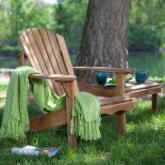  Coral Coast Hampton Deluxe Oak Adirondack Chair