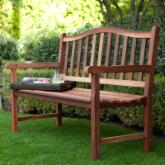 Richmond Arched Back 4-ft. Outdoor Wood Bench