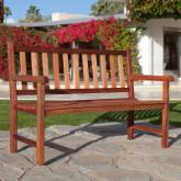  Richmond Straight-Back 4-ft. Outdoor Wood Bench