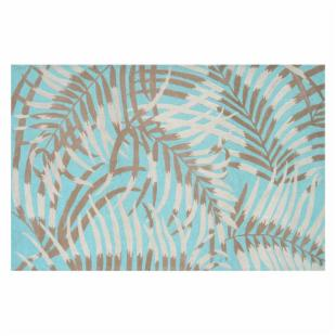 Rug Market Ecconox 72436 Las Palmas Area Rug - Aqua/Tan/Ivory