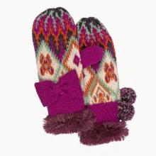  Muk Luks Girls Boho Mis-Match Mittens - One Size Fits Most