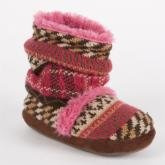 MUK LUKS Ruthie - Girls Fur Lined Scrunch Bootie Slipper
