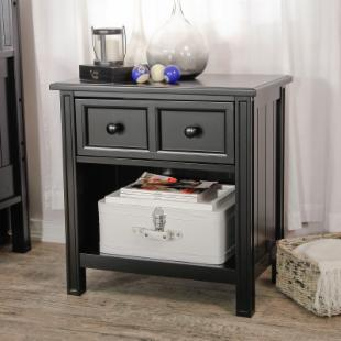 Casey 1 Drawer Nightstand - Black