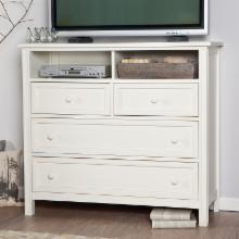  Casey Media Chest - White
