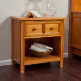  Casey 1 Drawer Nightstand - Honey Maple