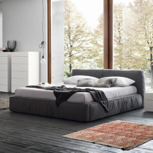 Twist Platform Bed - Dark Grey