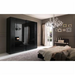 Rossetto USA Nightfly 80 in. 2 Door Sliding Wardrobe - Ebony