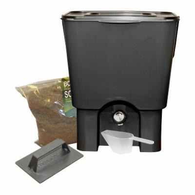 RTS Recycled Plastic Kitchen Composter and Compost Starter Kit