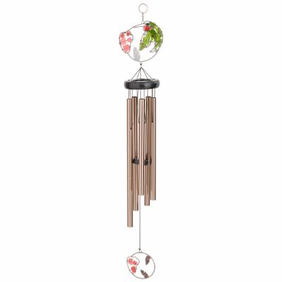 Broken Glass Hummingbird Wind Chime