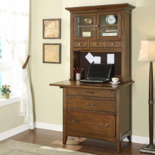 Riverside Oakton Village Personal Writing / Laptop Work Center with Optional Hutch