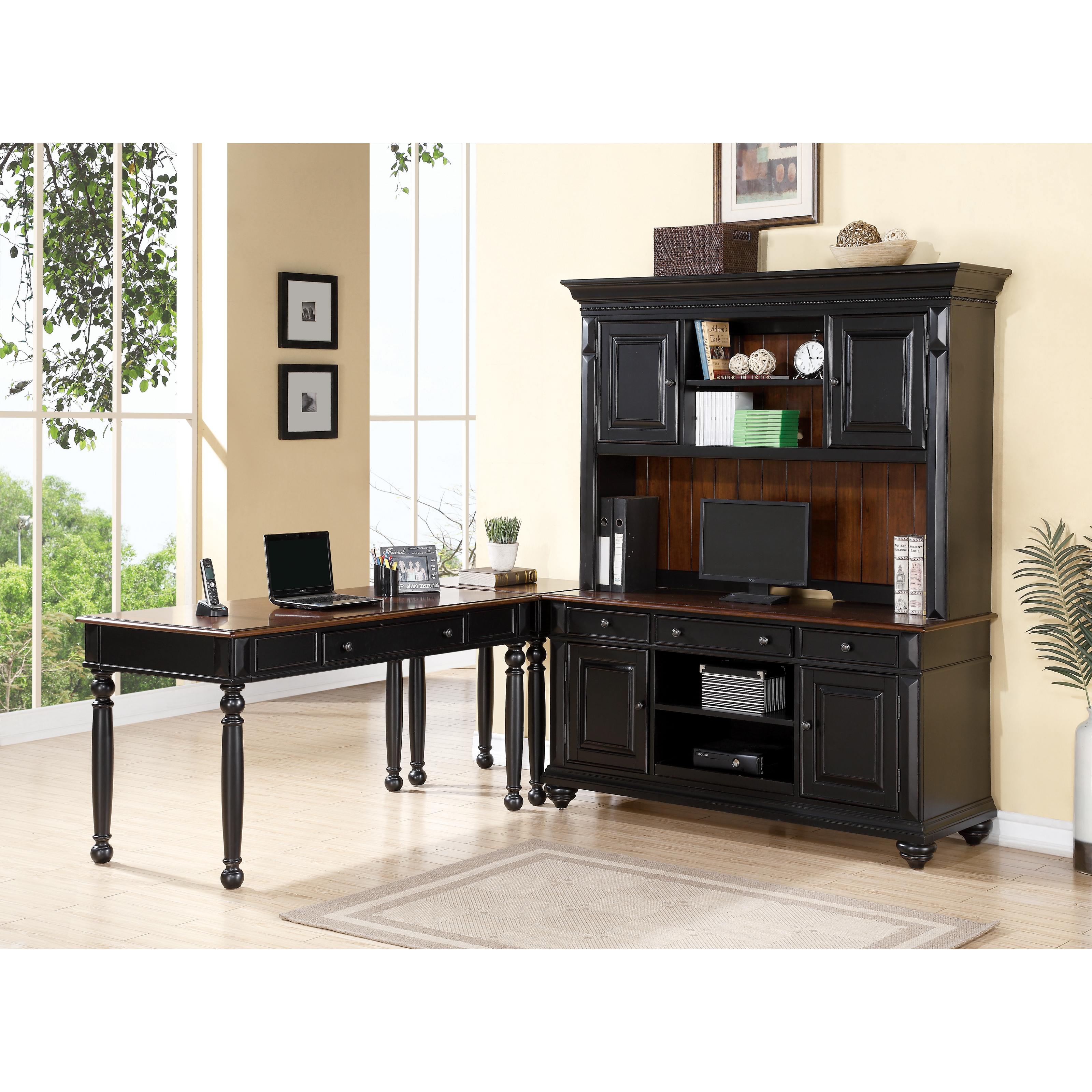 Richland L-Shaped Computer Desk with Optional Hutch at Hayneedle