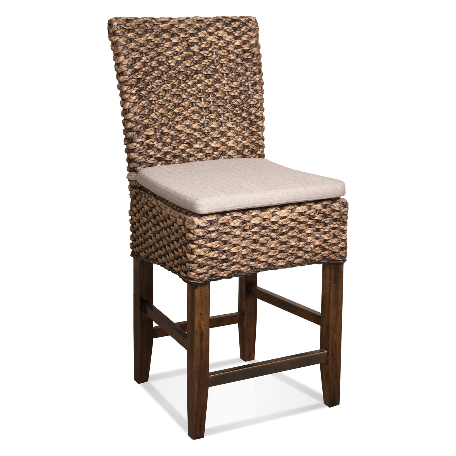 Riverside Mix N Match Woven Leaf Counter Stool 2 In