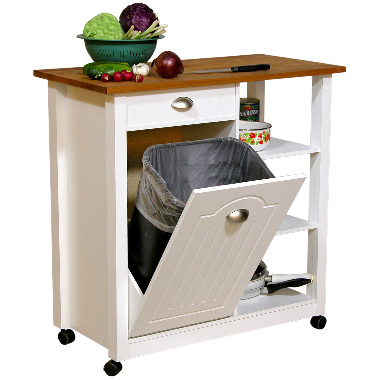 venture horizon butcher block top kitchen cart with trash the 15 most new and unique designs for the kitchen island
